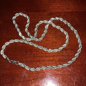 Jewelry - 🌺FINAL PRICE🌺Stamped 925 silver rope necklace
